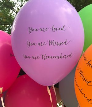 Pregnancy Loss - Balloon With Messages On